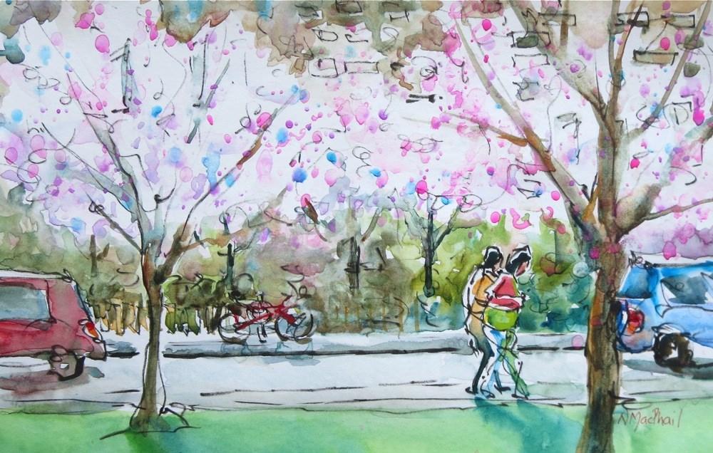 """in bloom"" original fine art by Nora MacPhail"