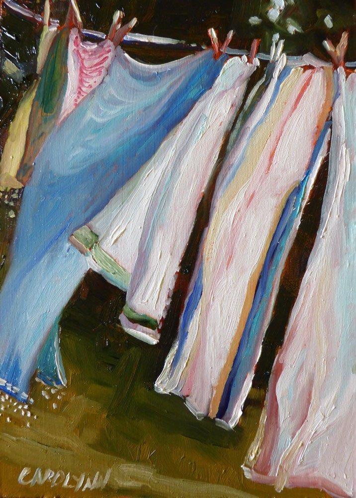 """""""Blowing in the Wind II"""" original fine art by Carolynn Doan"""