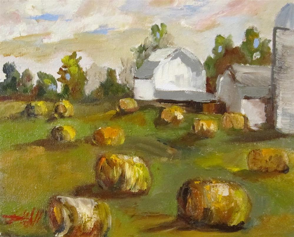 """Barns and Bails"" original fine art by Delilah Smith"