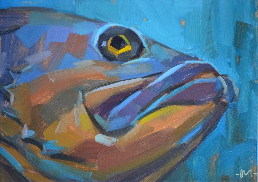 """Mr. Grumpy Face"" original fine art by Carol Marine"