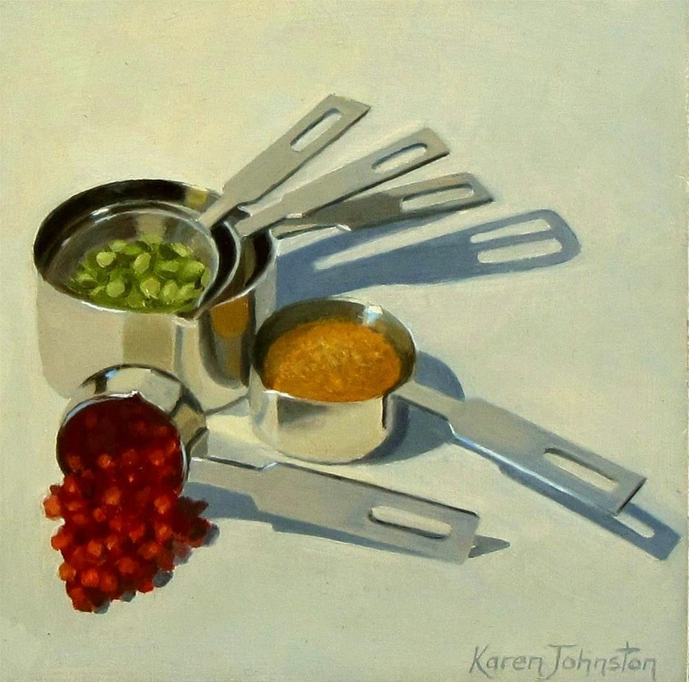 """Measuring Cups"" original fine art by Karen Johnston"