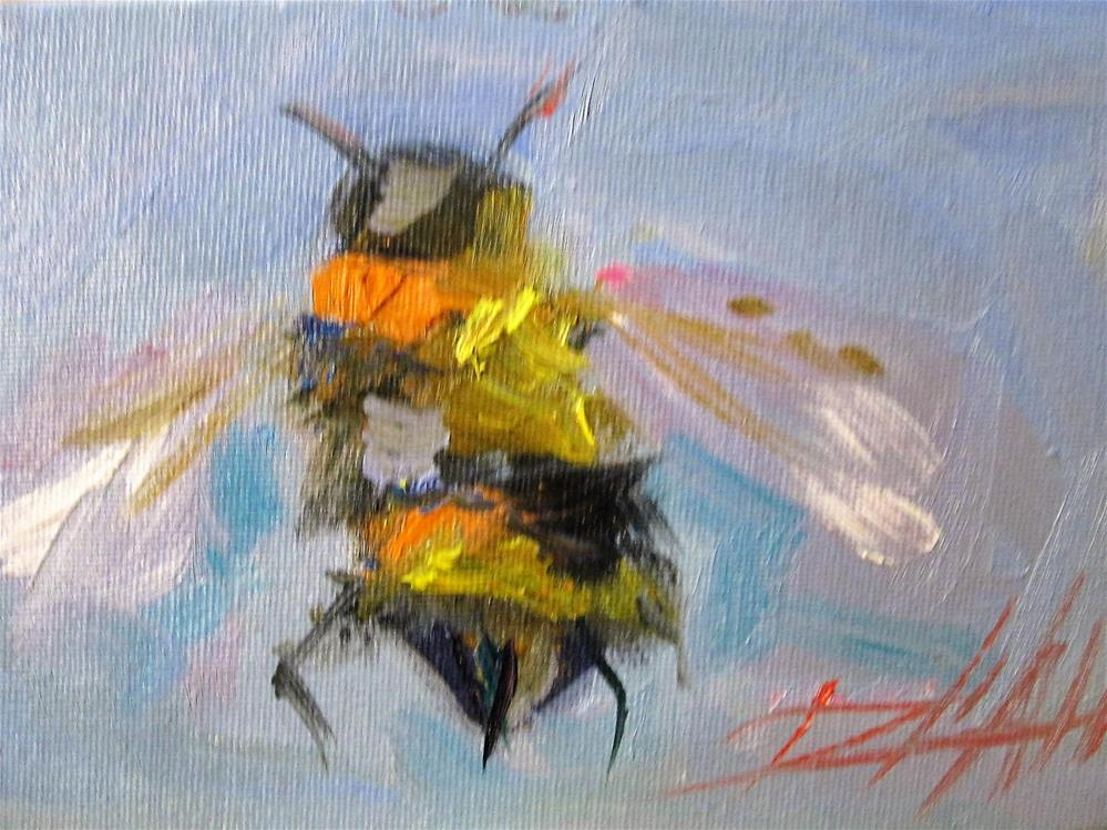 """Bumble Bee"" original fine art by Delilah Smith"