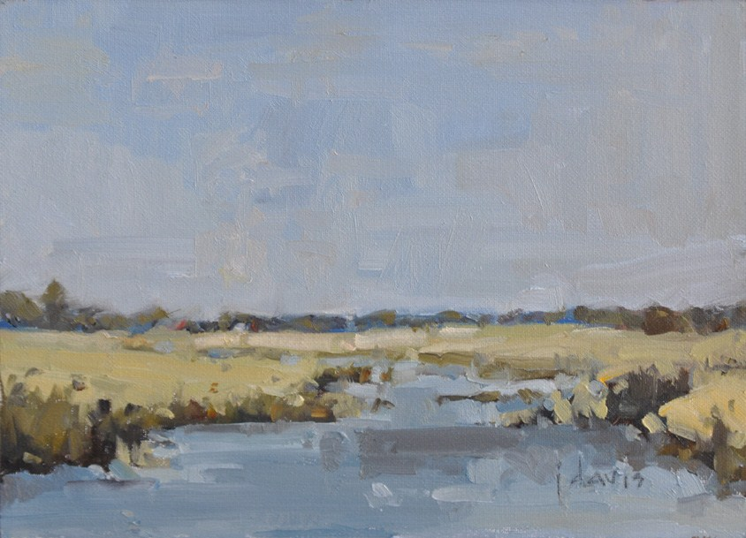 """Upstream"" original fine art by Julie Davis"