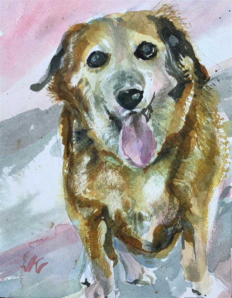 """Lucy"" original fine art by Jean Krueger"