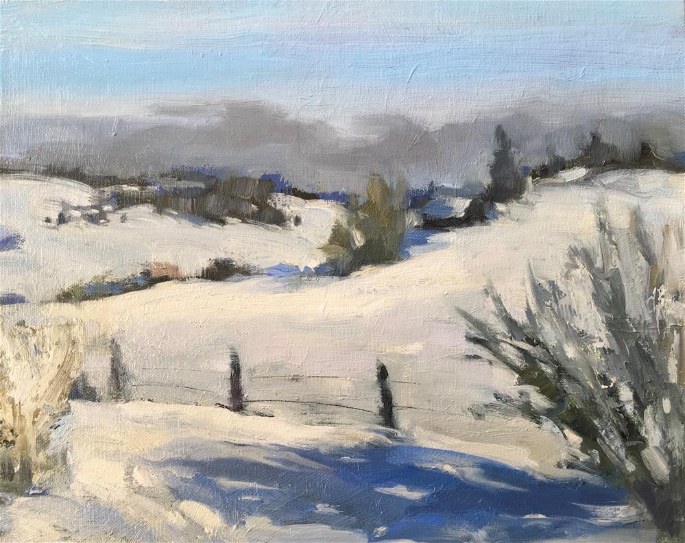 """""""""""Near Donnelly"""" (Idaho)"""" original fine art by Katya Minkina"""