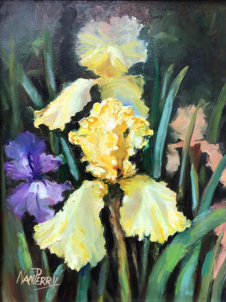 """""""For the Love of Iris"""" original fine art by Nan Perry"""