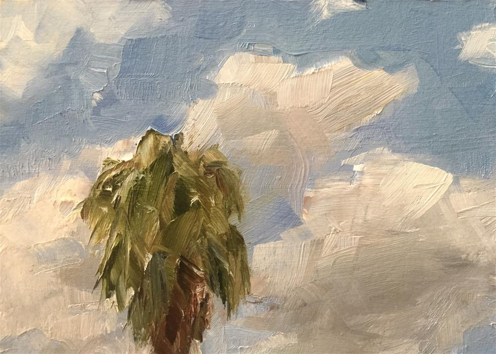 """Palm and Clouds"" original fine art by Gary Bruton"