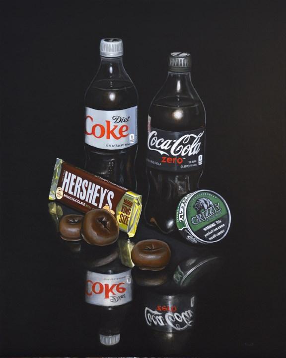 """Vices"" original fine art by Kim Testone"
