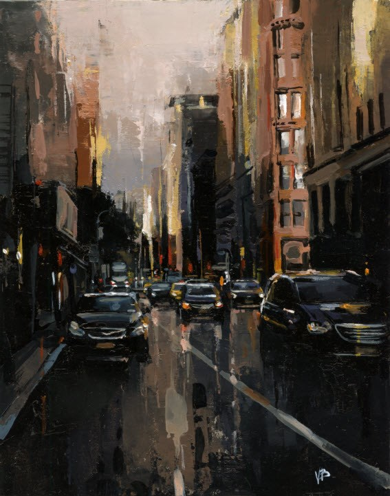 """broadway 3"" original fine art by Victor Bauer"