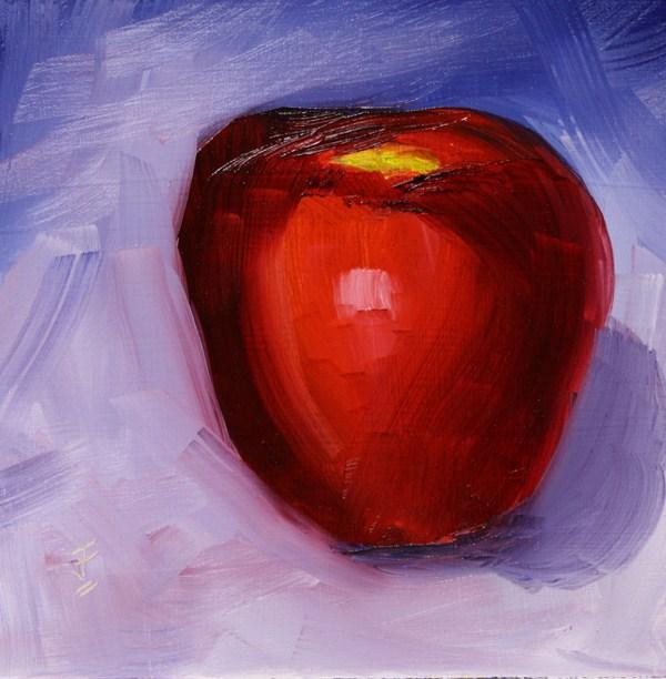 """Apple Challenge"" original fine art by Jane Frederick"
