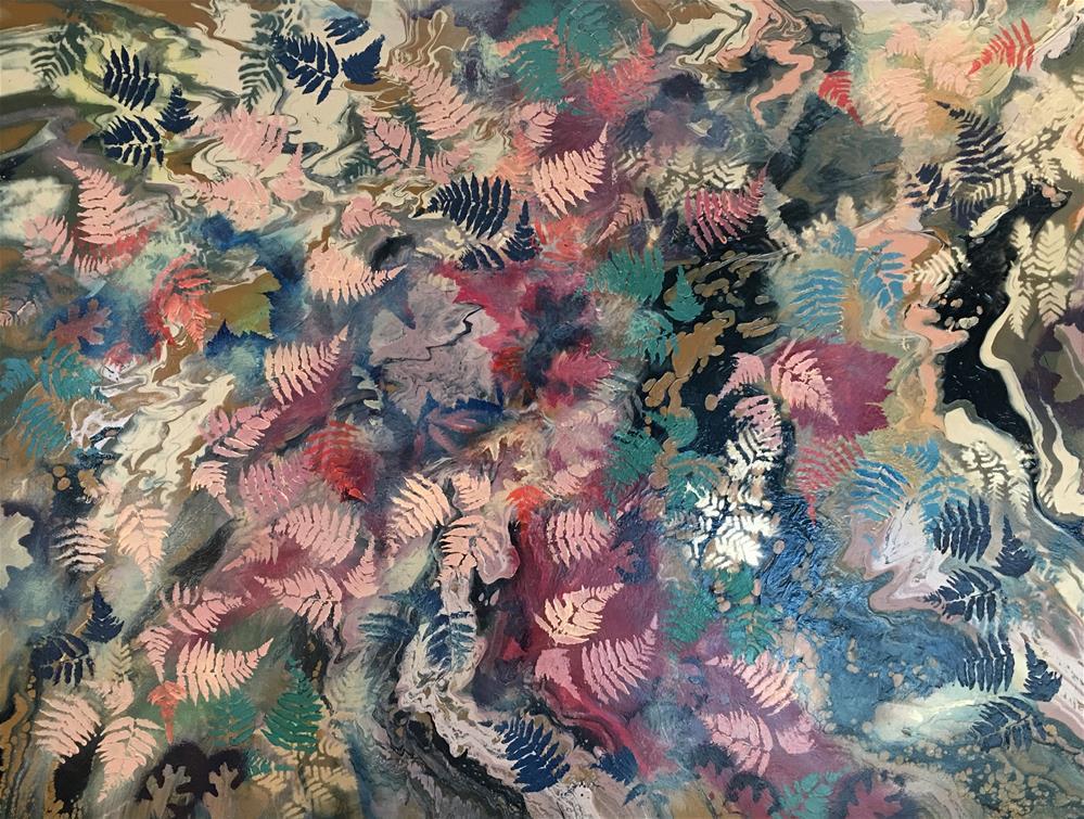 """""""Gorden Leaves"""" original fine art by Khrystyna Kozyuk"""