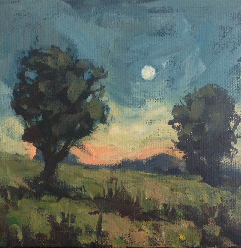 """""""Early Evening Moon"""" original fine art by Shannon Bauer"""