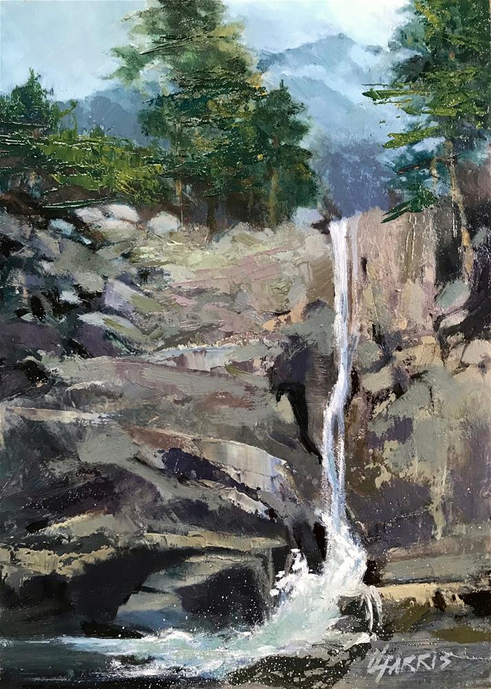 """""""Rockaway Falls"""" original fine art by Helen Harris"""