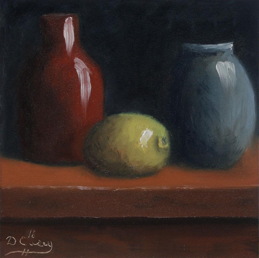"""""""Kitchen Painting – Primaries"""" original fine art by Dave Casey"""
