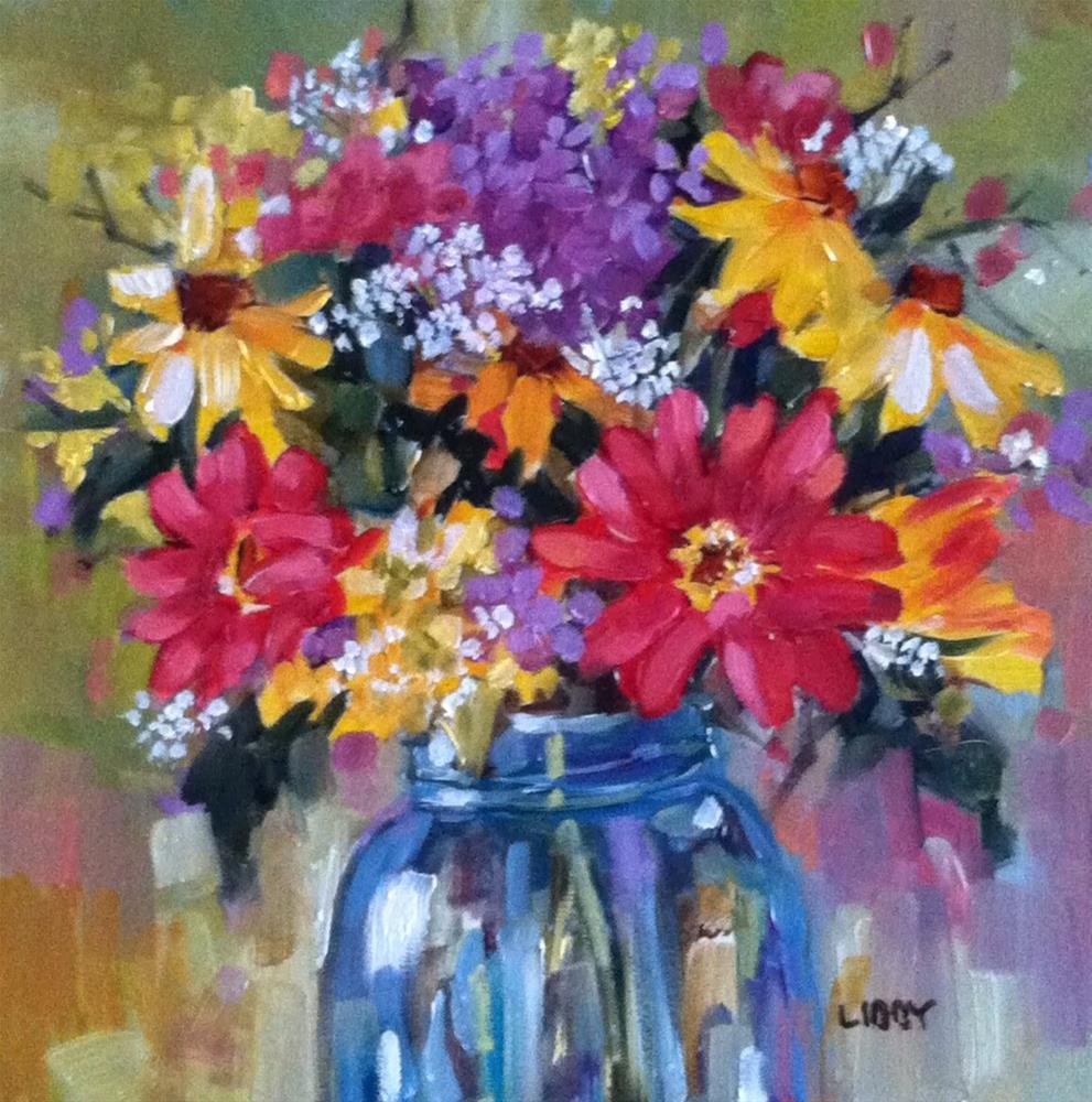 """Balance Sheet"" original fine art by Libby Anderson"