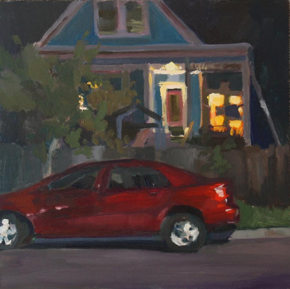 """Neighborhood House"" original fine art by Kaethe Bealer"
