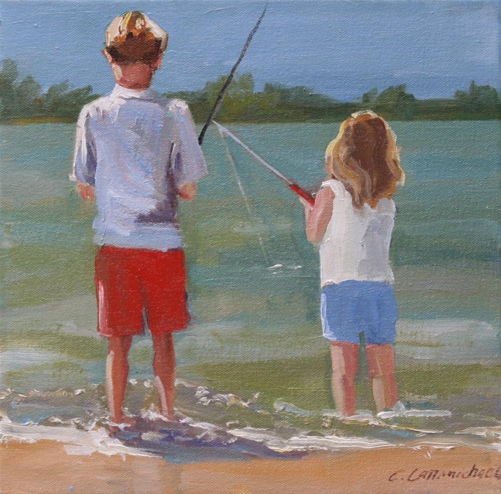 """Art on the Lake"" original fine art by Carol Carmichael"