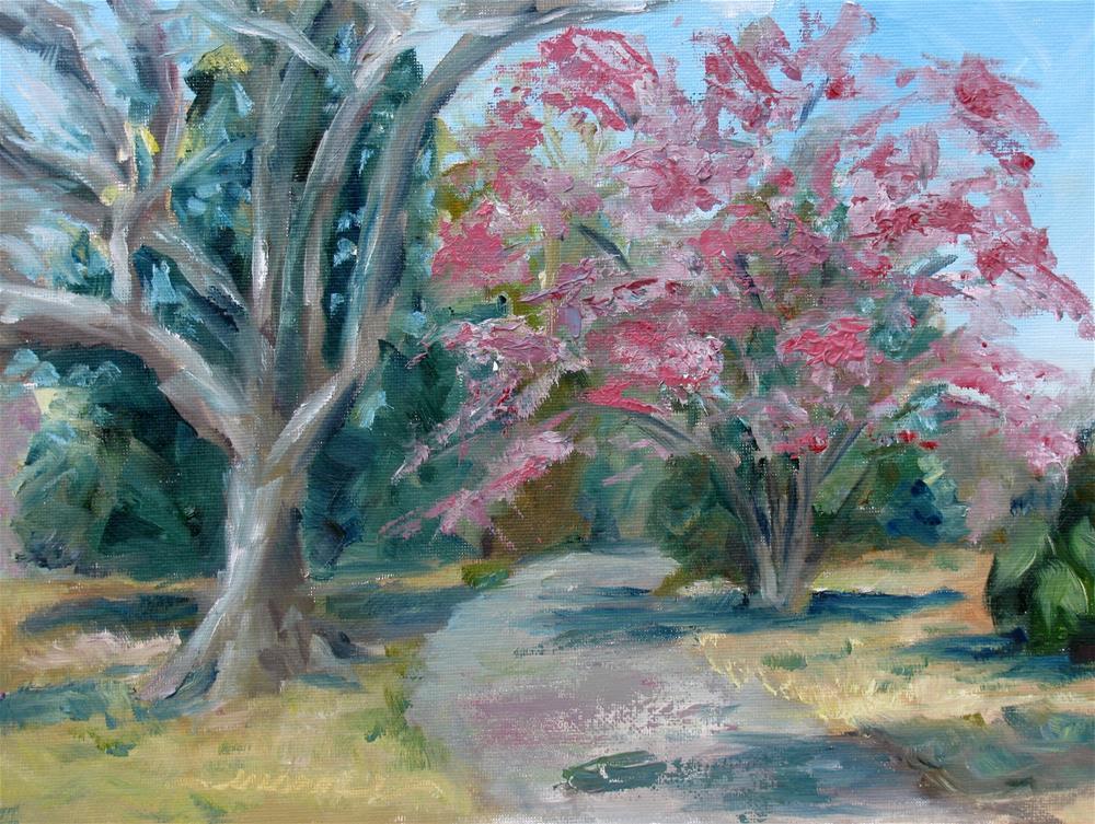 """Trees of Windermere"" original fine art by Susan Elizabeth Jones"
