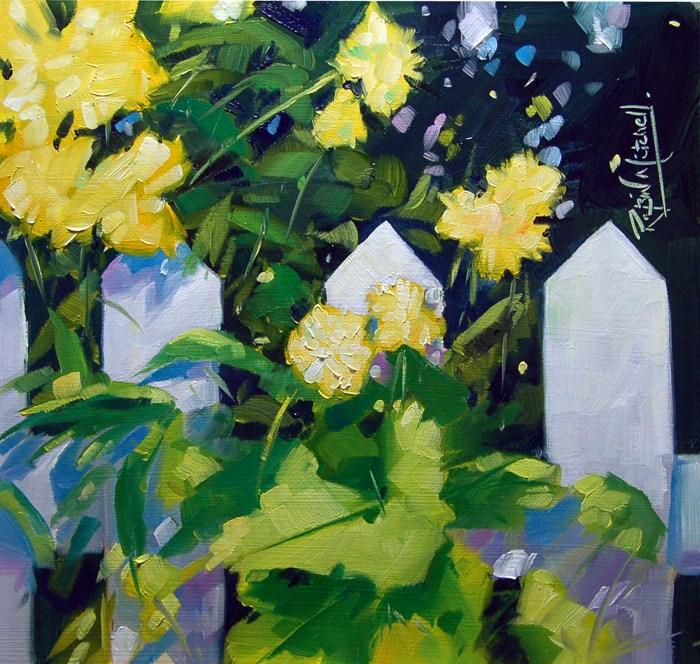 """No 507 Fence Decoration"" original fine art by Robin J Mitchell"