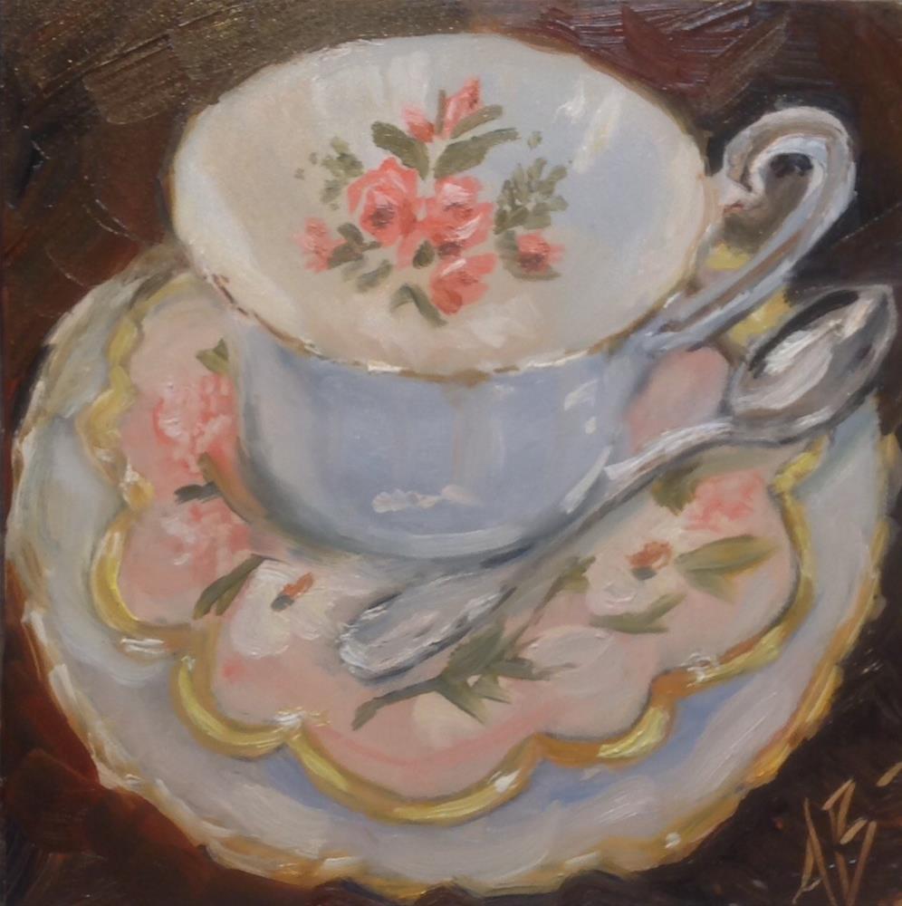 """""""Bone china cup"""" original fine art by Annette Balesteri"""