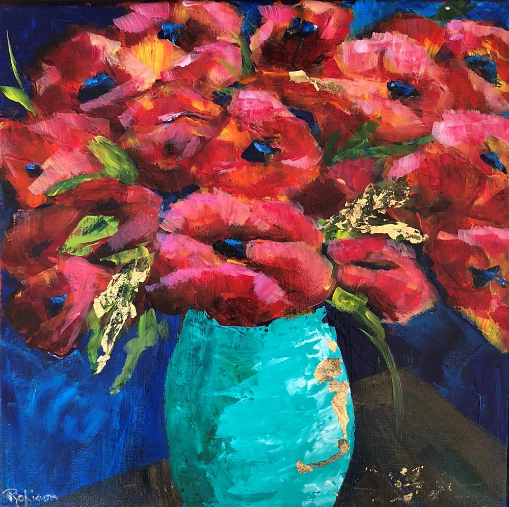 """Explosion of Red Poppies"" original fine art by Renee Robison"