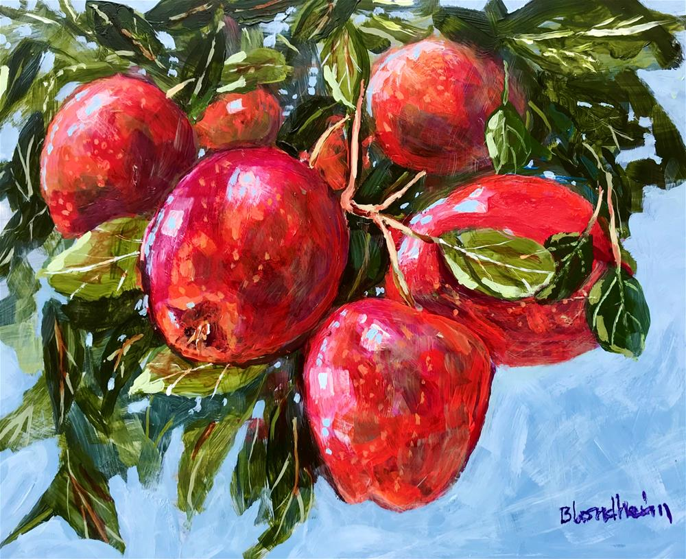 """Apple Tree"" original fine art by Linda Blondheim"