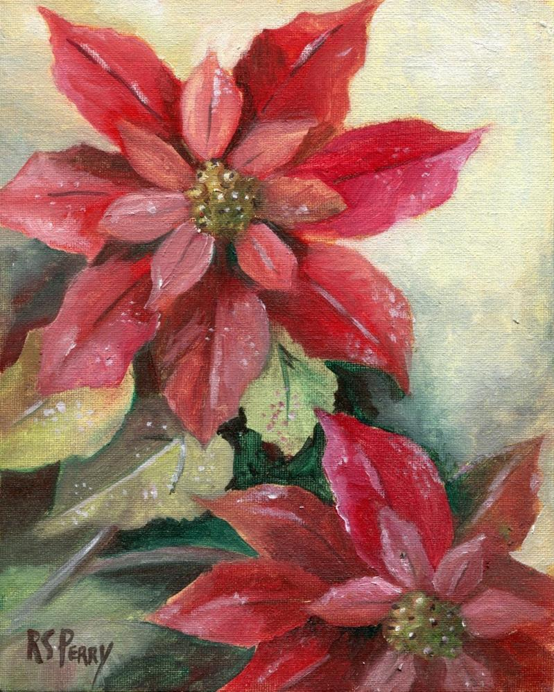"""Poinsettia"" original fine art by R. S. Perry"