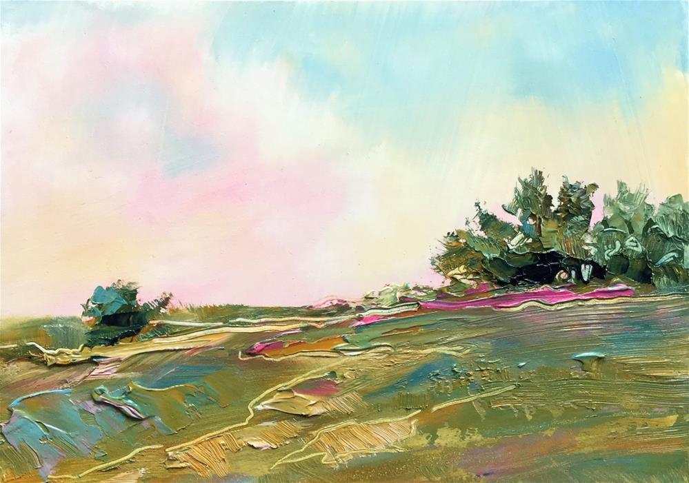 """Impasto Landscape 95"" original fine art by Charlotte Fitzgerald"