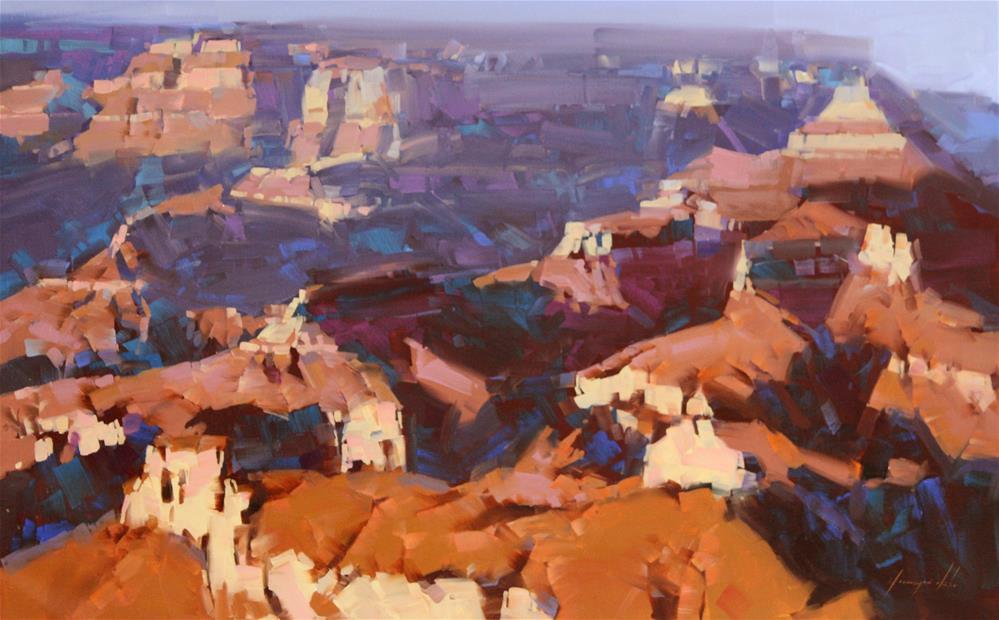 """Grand Canyon North Rim Original Large oil Painting"" original fine art by V Y"