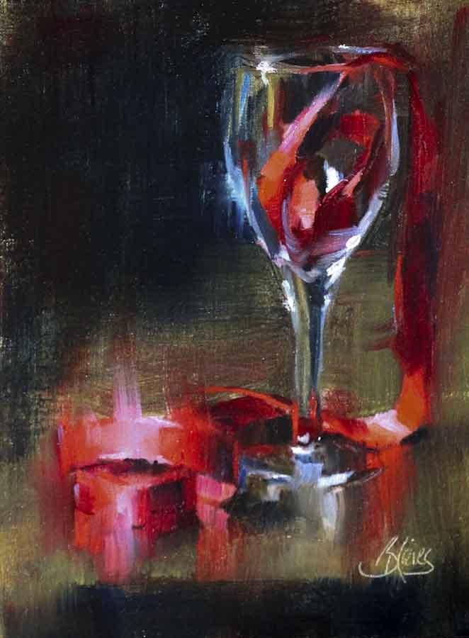 """""""Refined Red"""" original fine art by Pamela Blaies"""