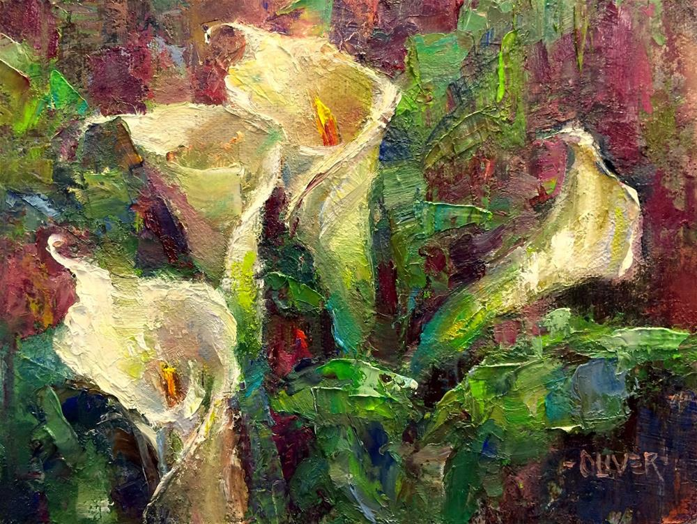 """""""Callas At Christmas"""" original fine art by Julie Ford Oliver"""