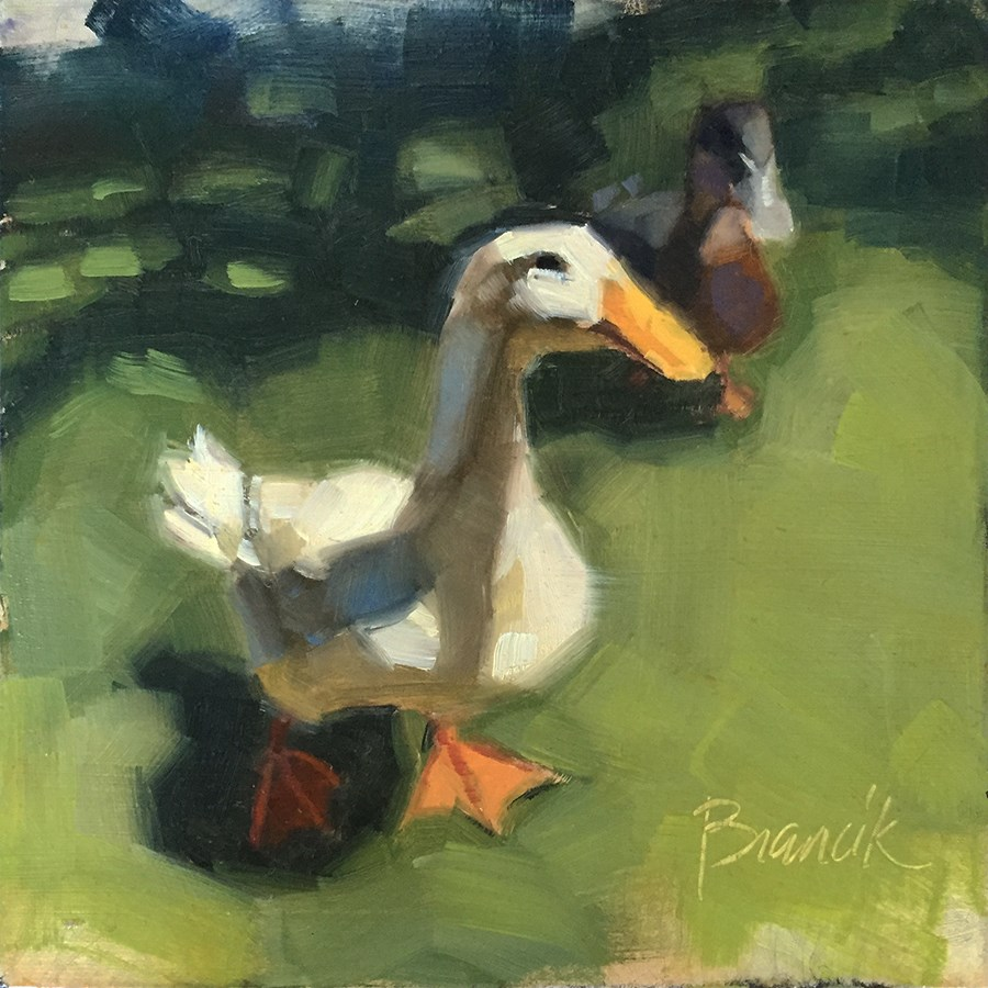 """A Stroll in the Park"" original fine art by Candace Brancik"