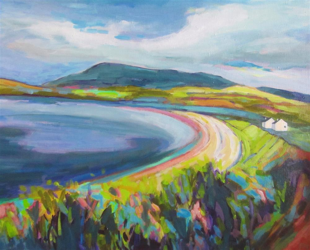 """Near Ardmair On the West Coast Road (Scotland)"" original fine art by Patricia MacDonald"