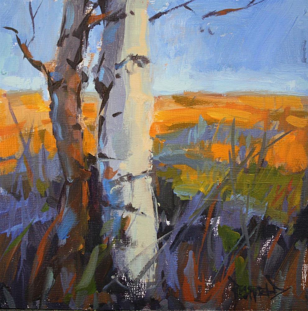 """""""Birches"""" original fine art by Cathleen Rehfeld"""