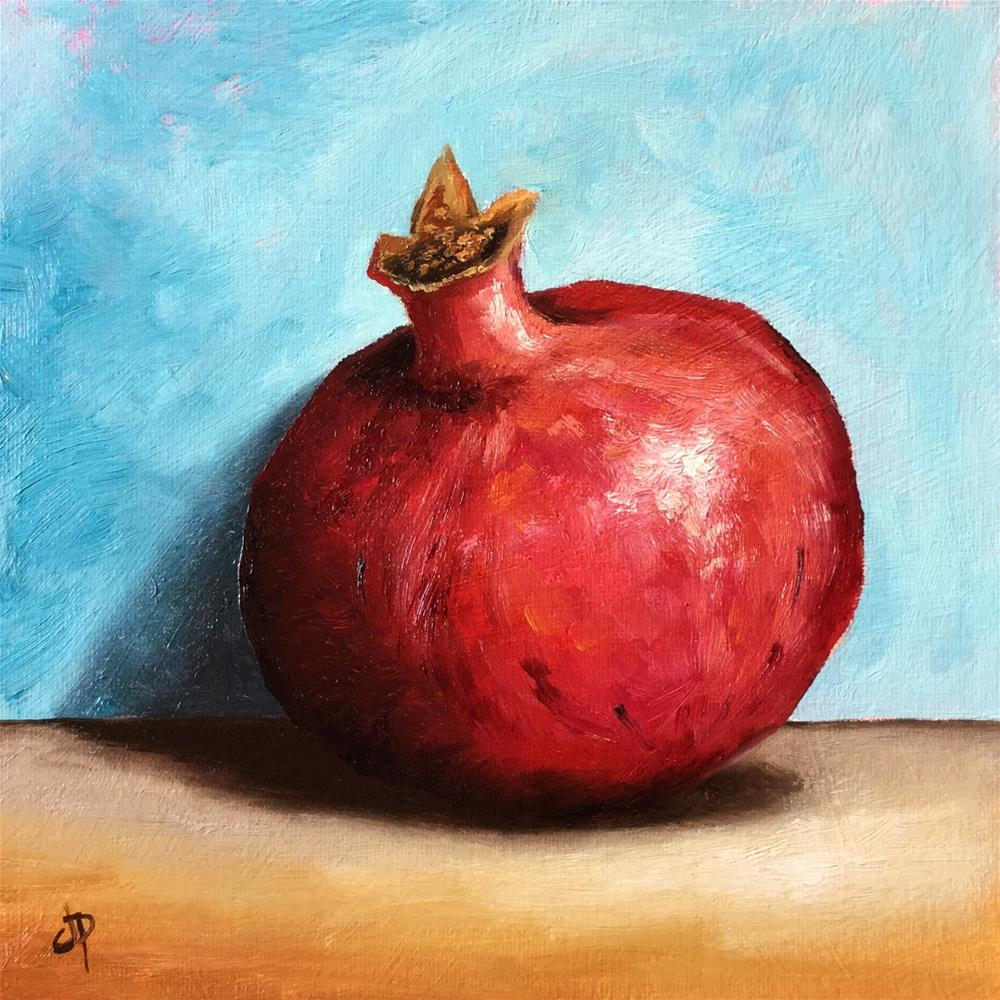 """Pomegranate"" original fine art by Jane Palmer"