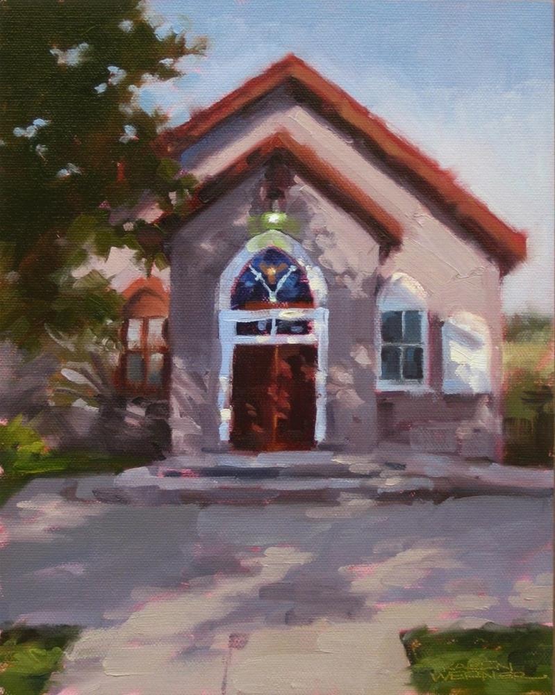 """""""Chapel Light"""" original fine art by Karen Werner"""