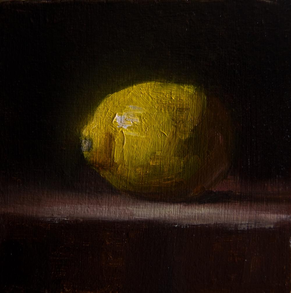 """Lemon No. 1"" original fine art by Neil Carroll"