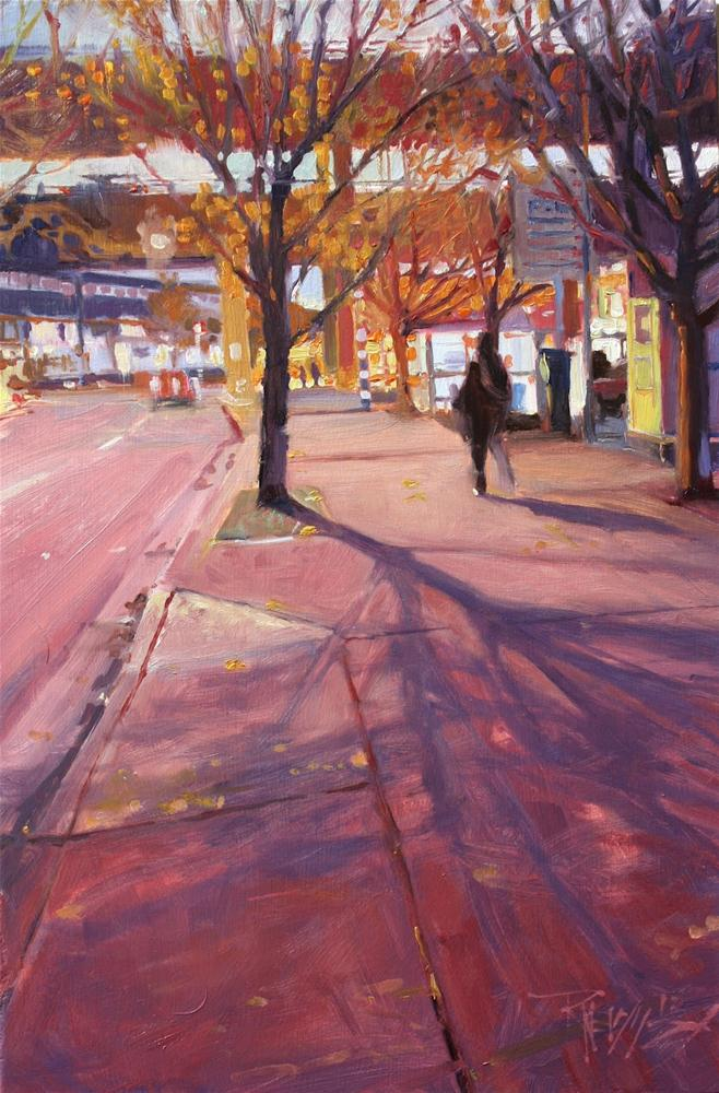 """""""Viaduct Afternoon Seattle cityscape,oil painting by Robin Weiss"""" original fine art by Robin Weiss"""
