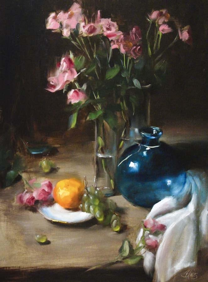 """Bright Rosy Morning"" original fine art by Pamela Blaies"