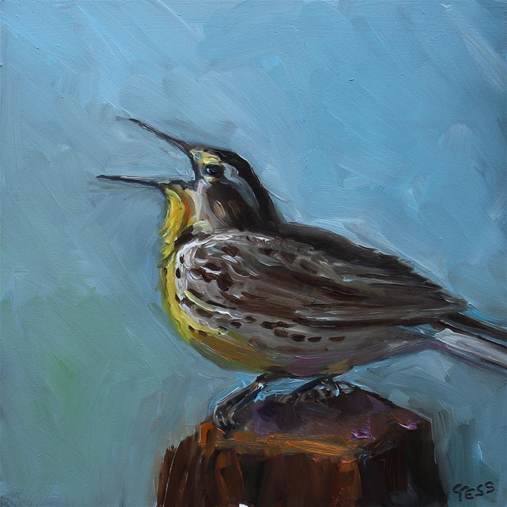 """""""Day 3- Meadowlark"""" original fine art by Tess Lehman"""