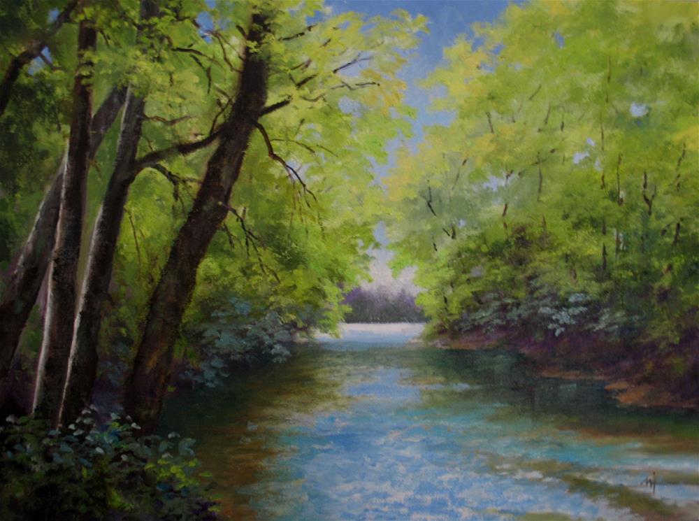 """""""Spring Creek"""" original fine art by Nel Jansen"""