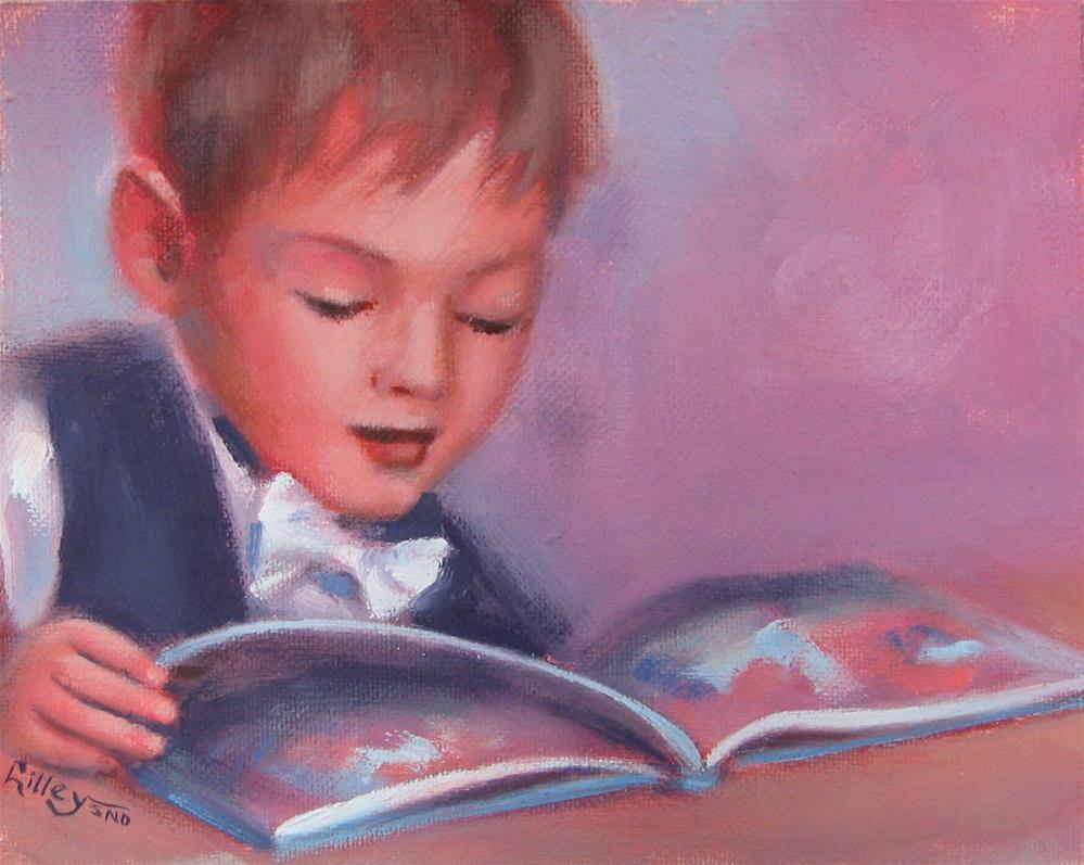 """Page Turner"" original fine art by Maresa Lilley"