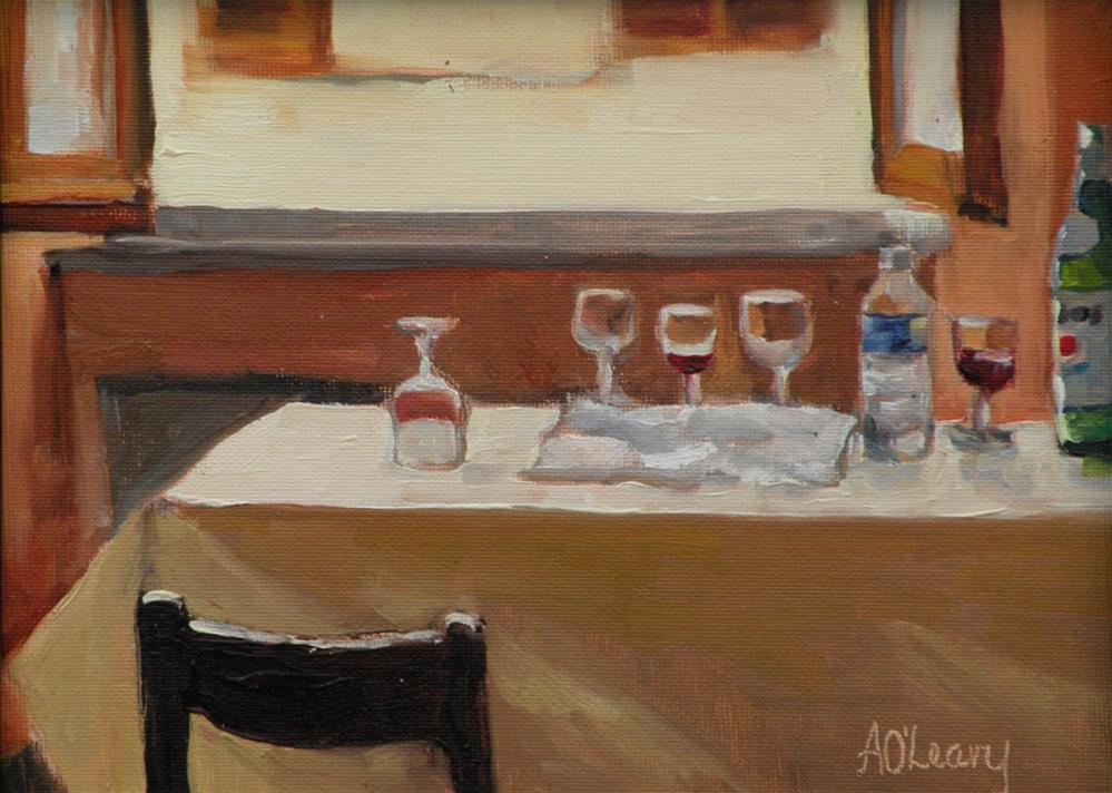 """""""Italian Lunch"""" original fine art by Alice O'Leary"""