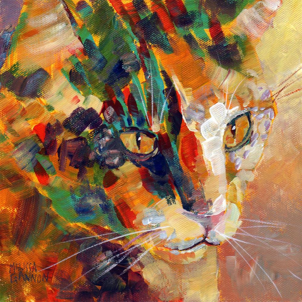 """Kitty Thoughts"" original fine art by Melissa Gannon"