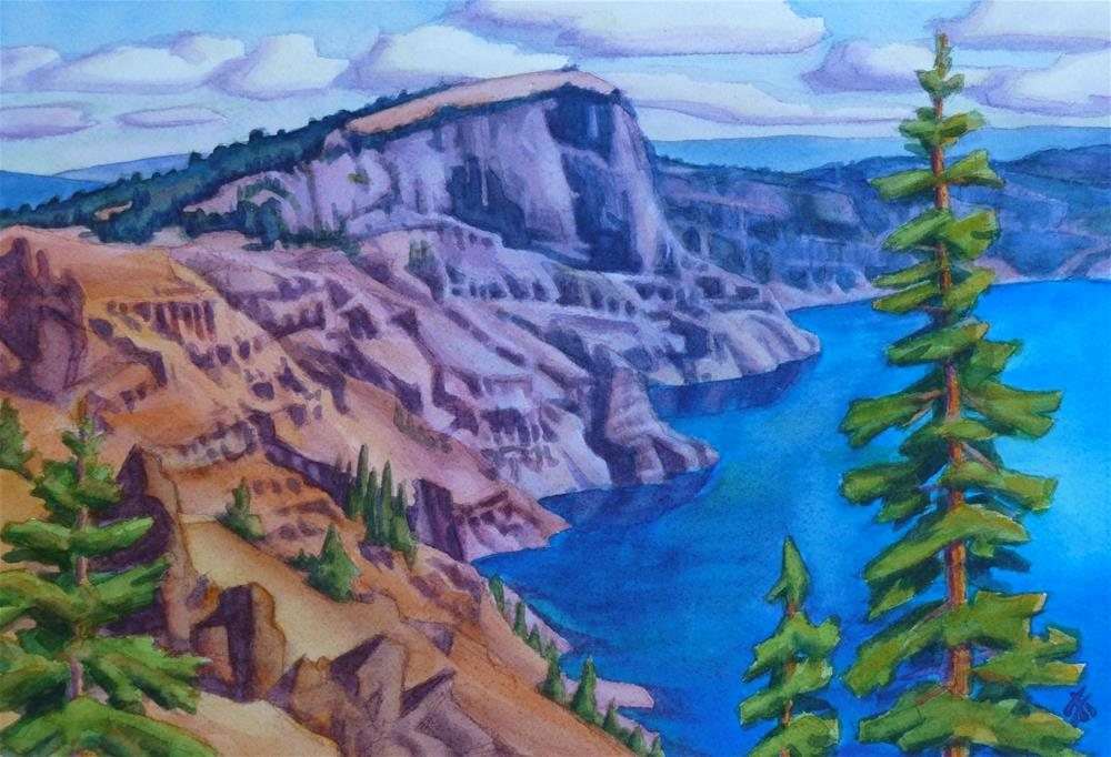"""North Rim - Crater Lake"" original fine art by Mark Allison"