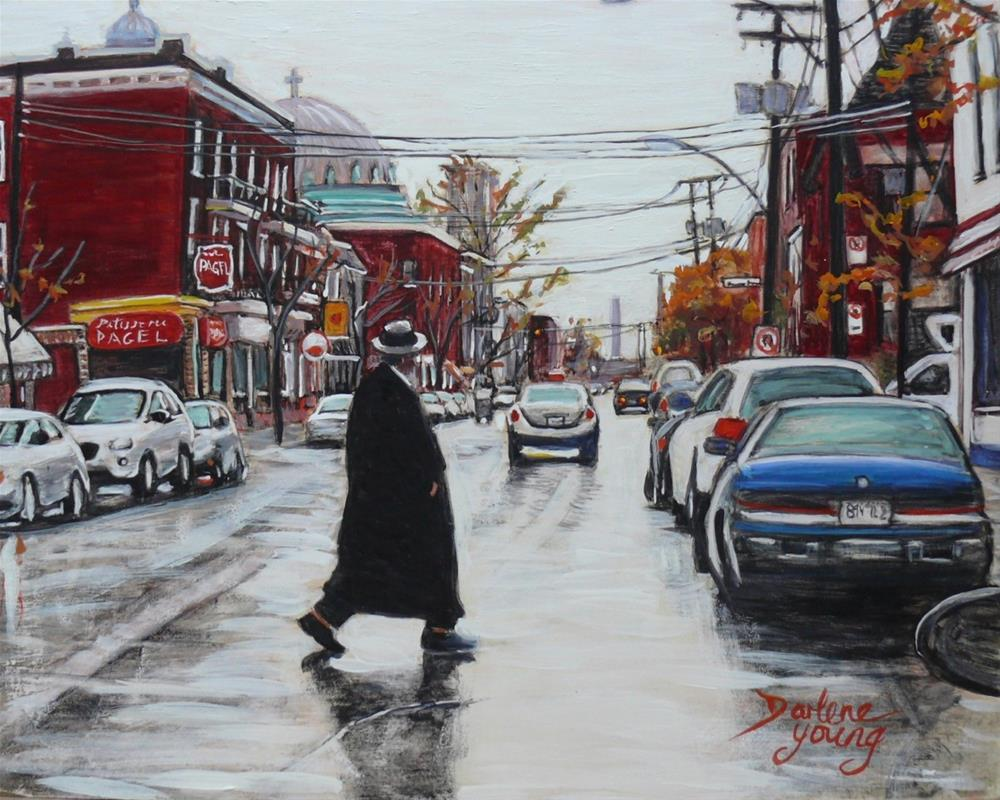 """1173 St Viateur Rainy Day"" original fine art by Darlene Young"