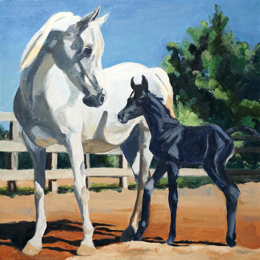"""""""Bundle of Joy"""" original fine art by Catherine Van Berg"""