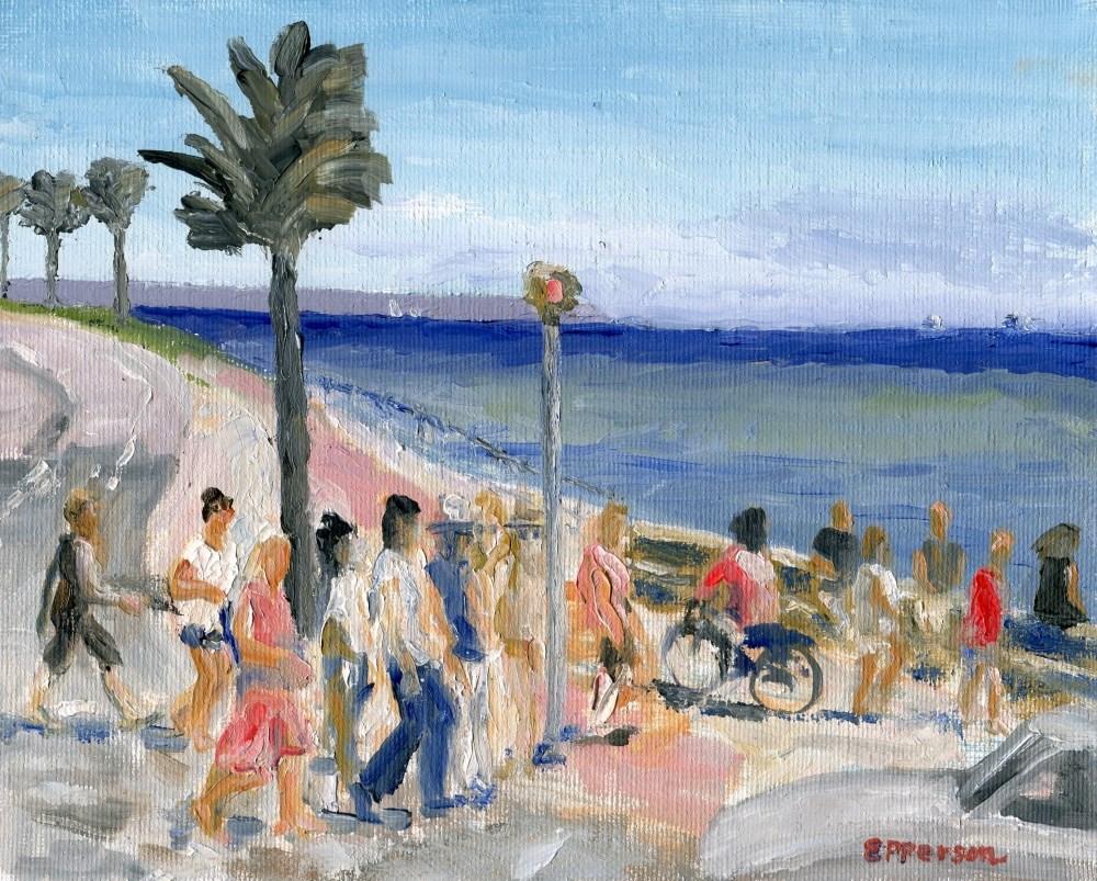 """ Camí de l'Escullera Palma, Balearic Islands"" original fine art by Stanley Epperson"