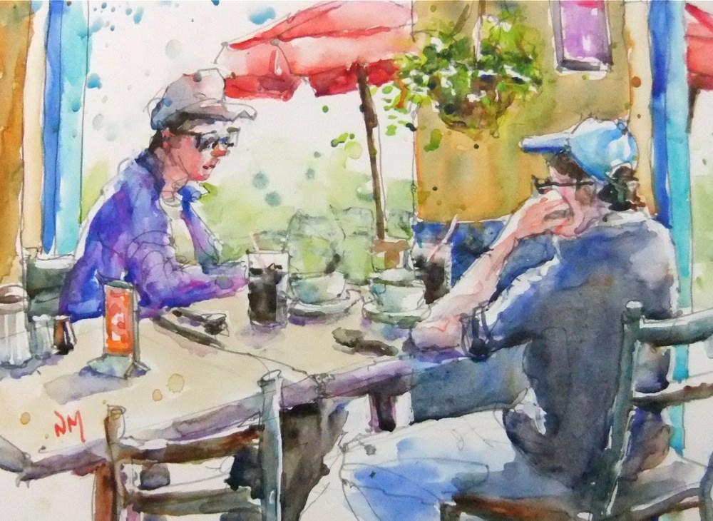 """""""wear two hats"""" original fine art by Nora MacPhail"""