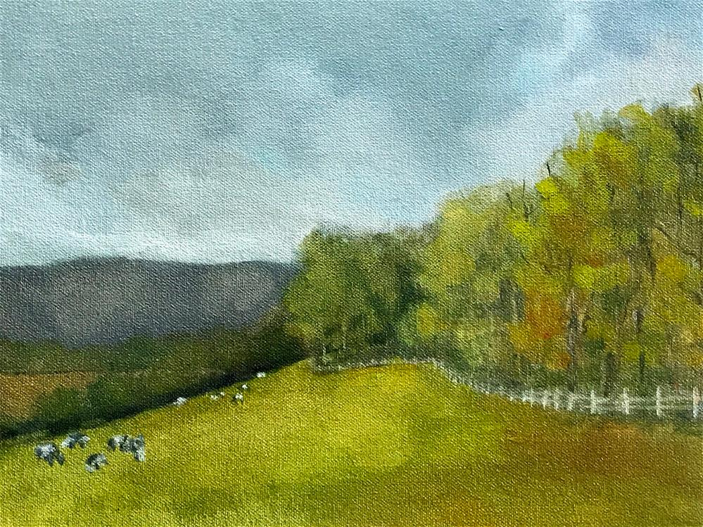 """cows grazing"" original fine art by Betty Argiros"